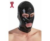 Latexová maska s otvory Černá